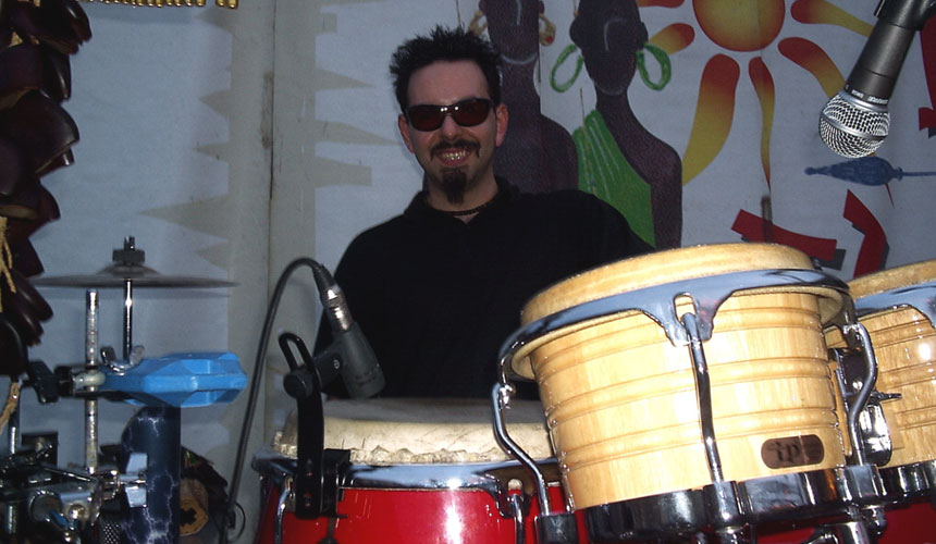 photo by luca mattioni toured as percussionist with italian singer edoardo vianello