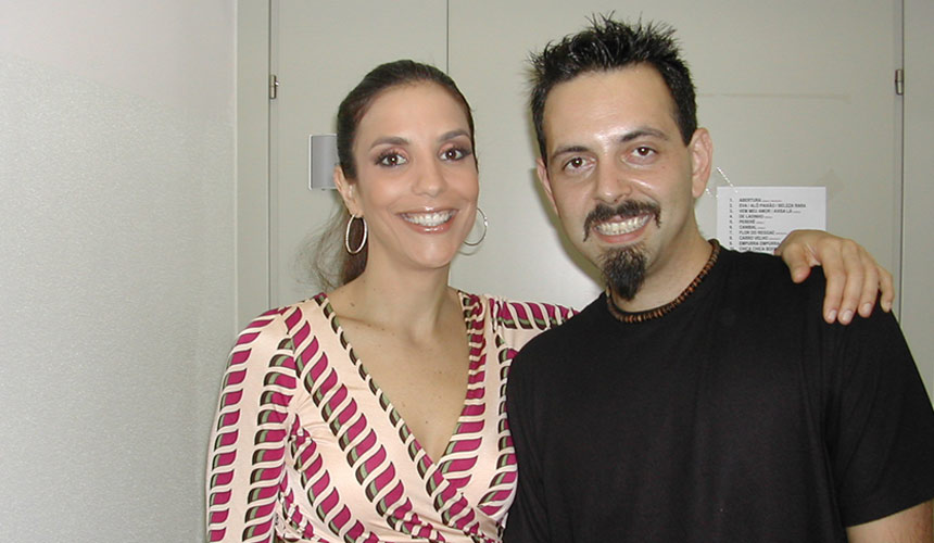 picture of luca mattioni with the brasilian singer ivete sangalo