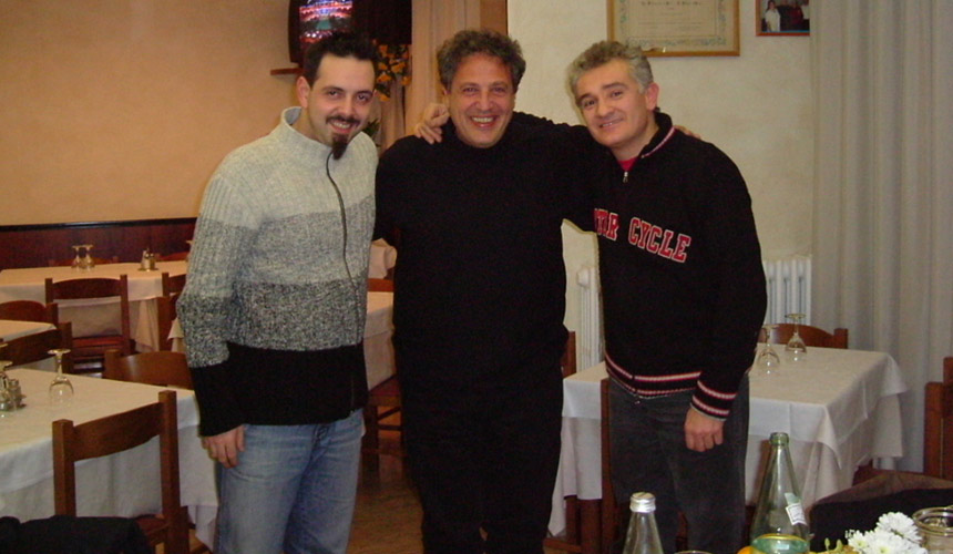 picture of luca mattioni with stefano rossini and amedeo griffoni