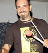 photo percussionist luca mattioni while studying in cuba from the masters